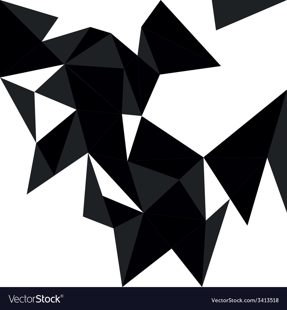 Dark triangle background or flat pattern vector | Price: 1 Credit (USD $1)