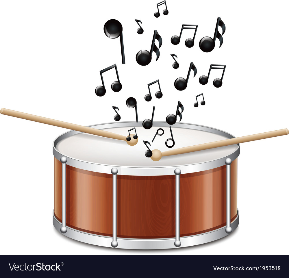 Drum with melody vector | Price: 1 Credit (USD $1)