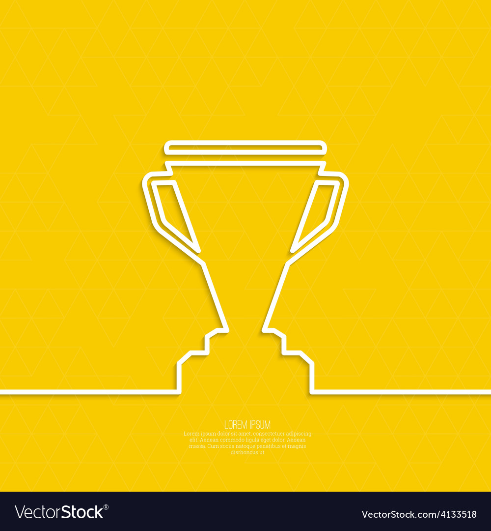 Gold cup of the winner on a pedestal vector | Price: 1 Credit (USD $1)