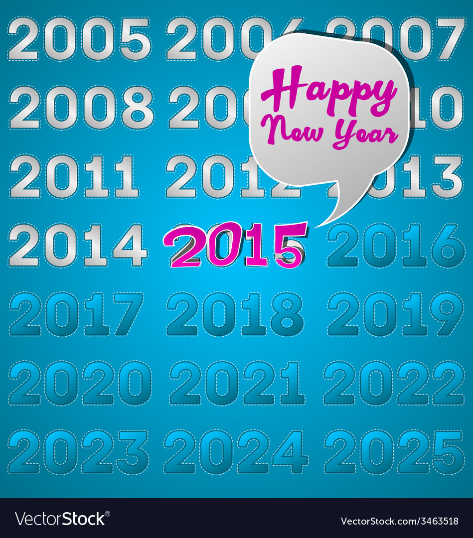Happy new year 2015 vector
