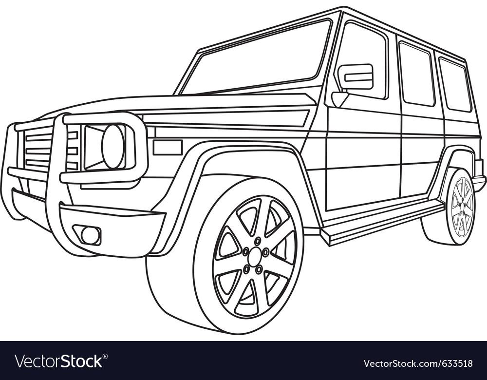 Off road car vector | Price: 1 Credit (USD $1)