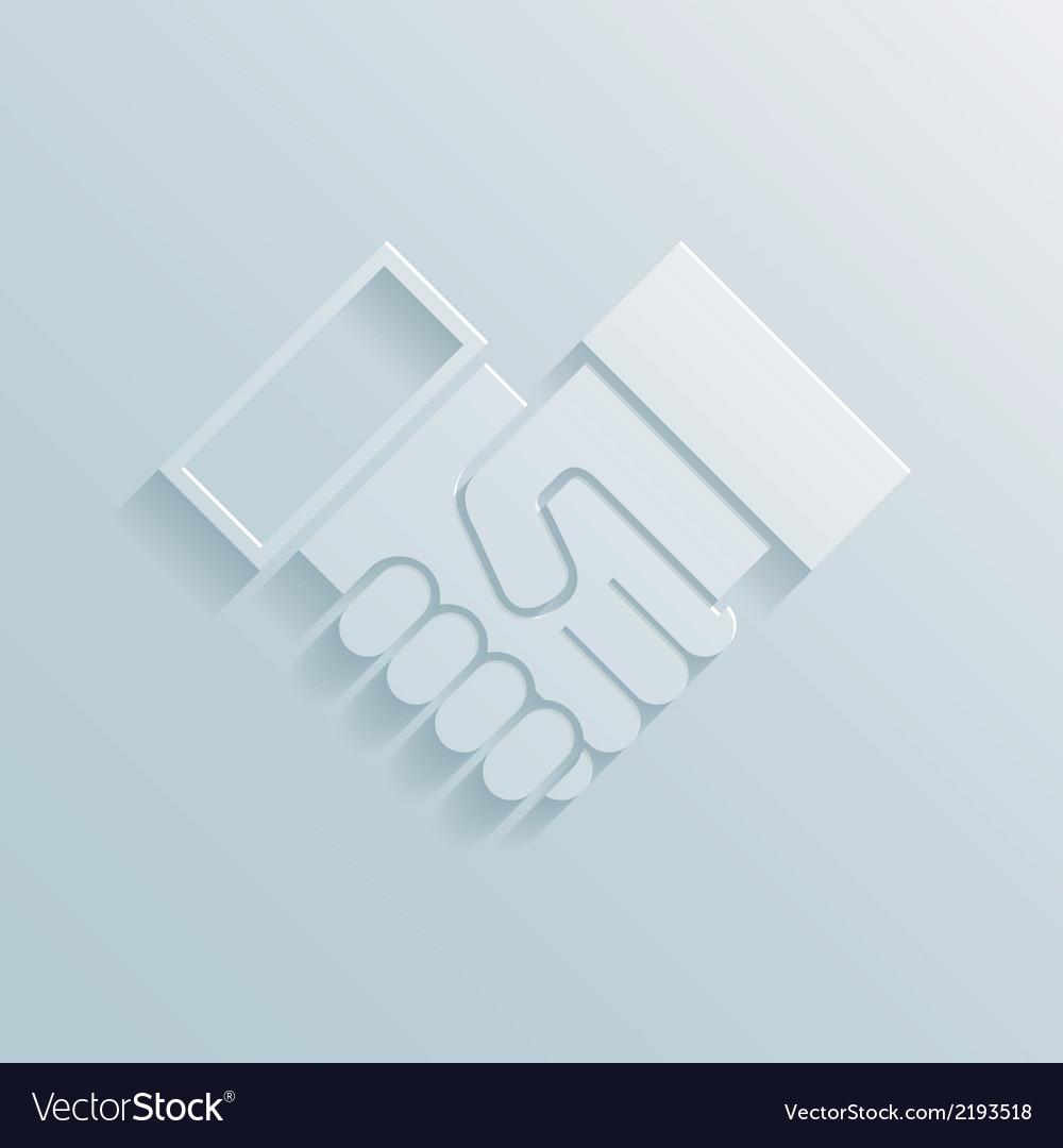 Paper handshake icon vector | Price: 1 Credit (USD $1)
