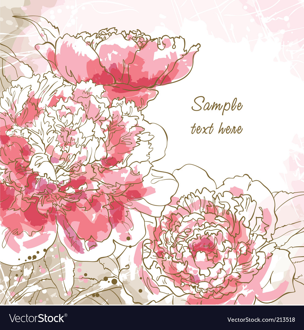Peony vector | Price: 3 Credit (USD $3)
