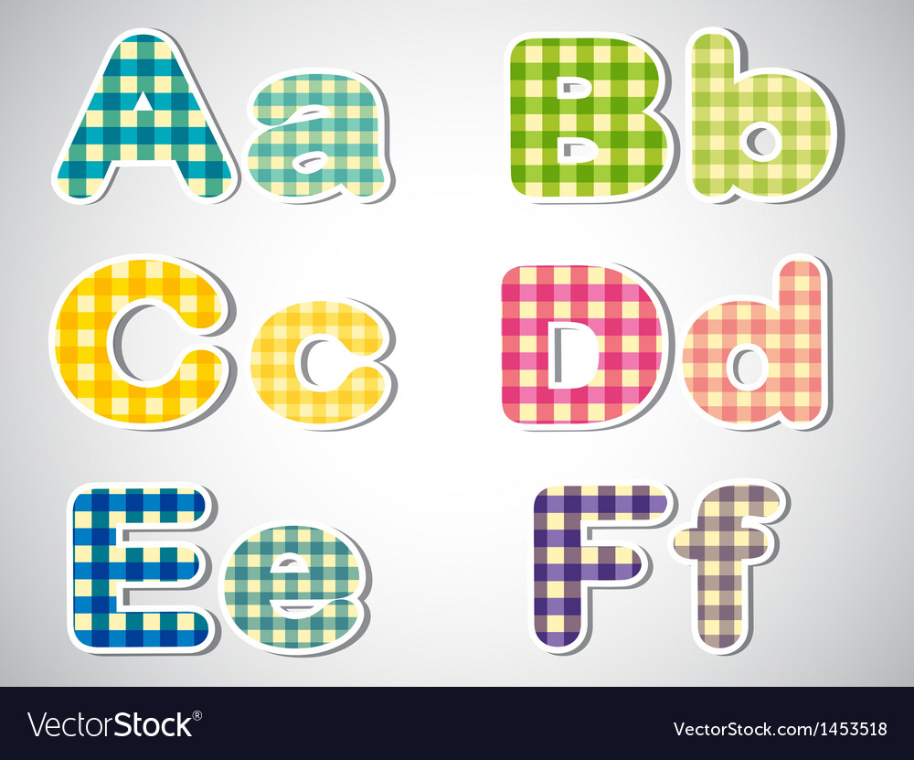 Six letters in alphabetical order vector   Price: 1 Credit (USD $1)