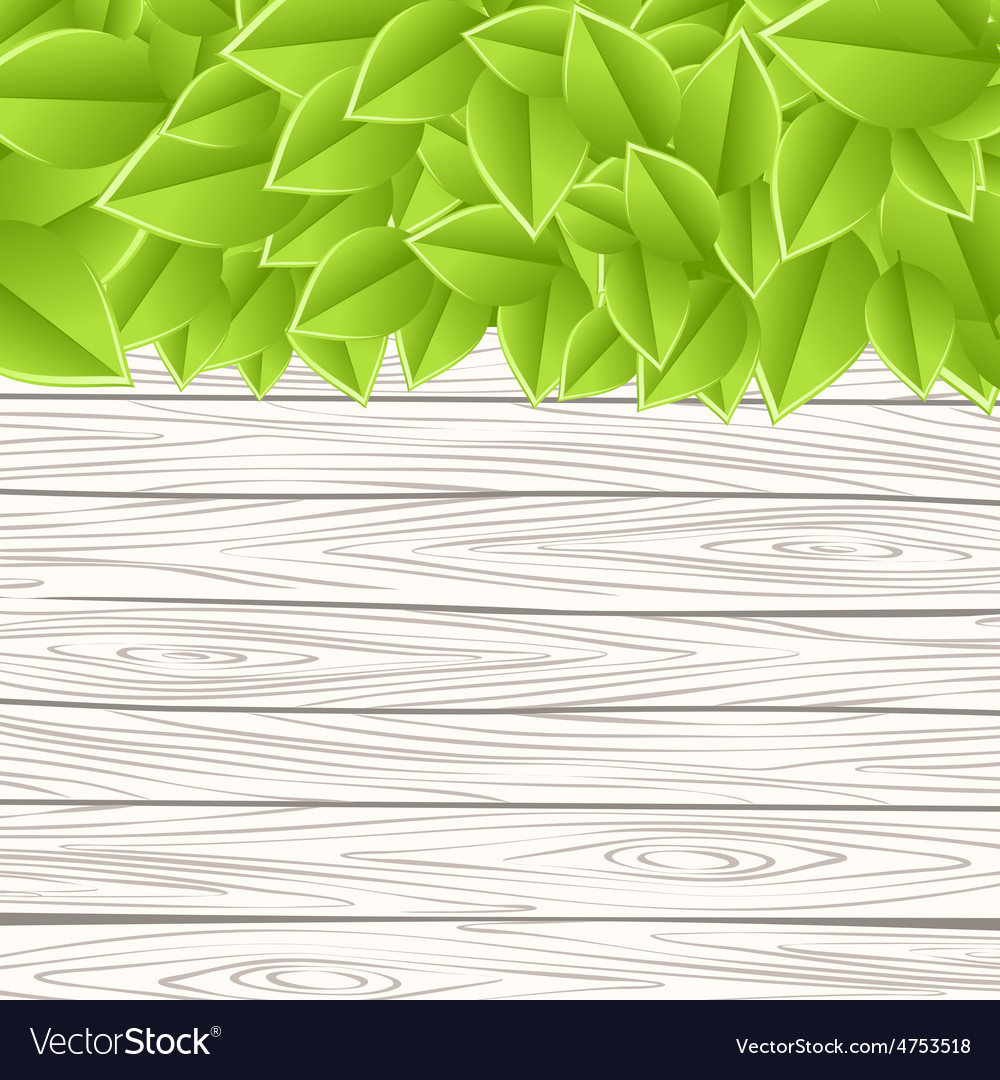 Wall with leaves vector | Price: 3 Credit (USD $3)