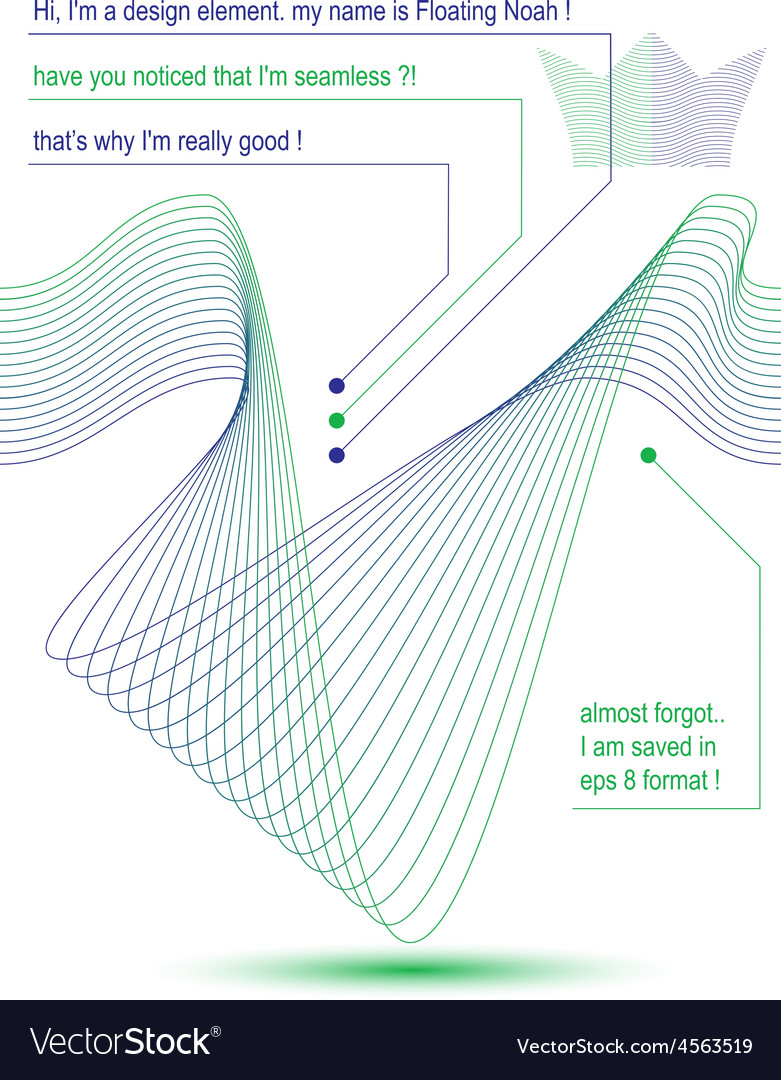 3d futuristic flowing lines vector | Price: 1 Credit (USD $1)