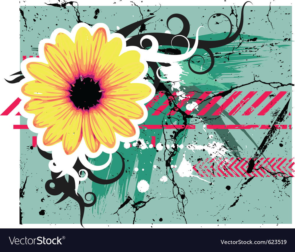 Abstract teal grunge vector | Price: 1 Credit (USD $1)