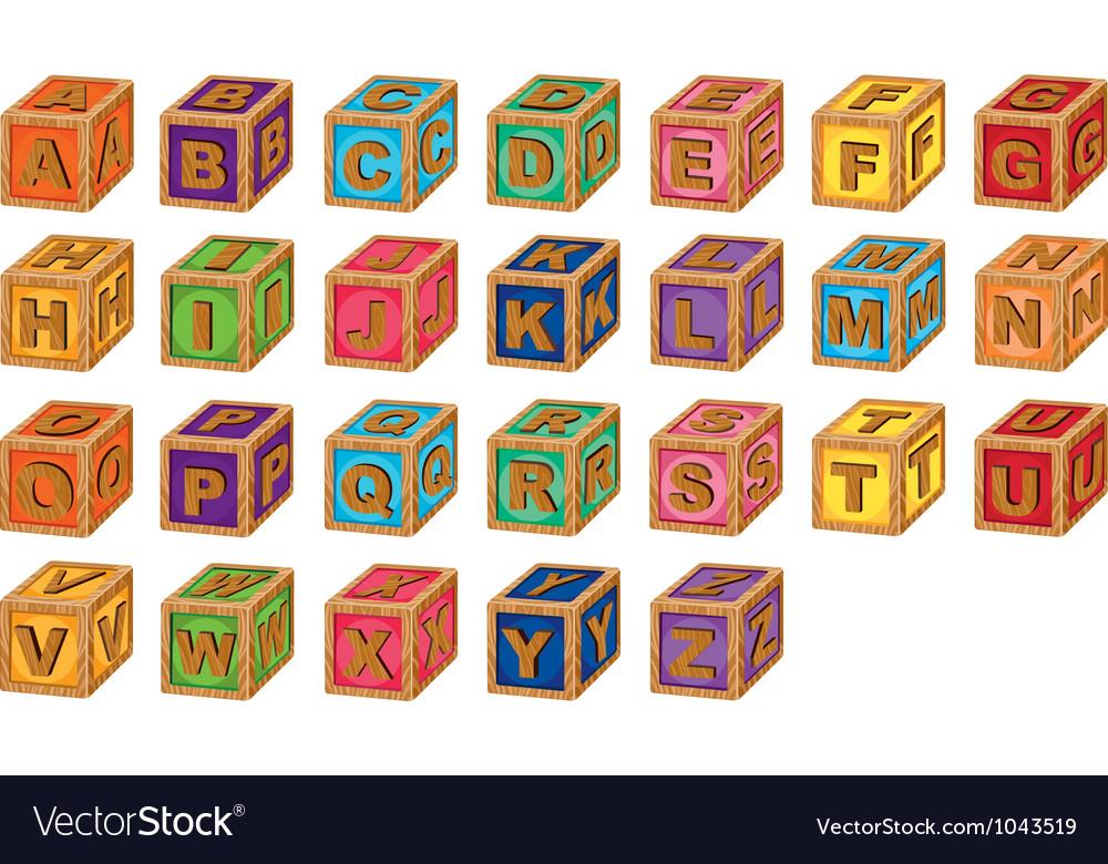 Alphabet cubes vector   Price: 1 Credit (USD $1)