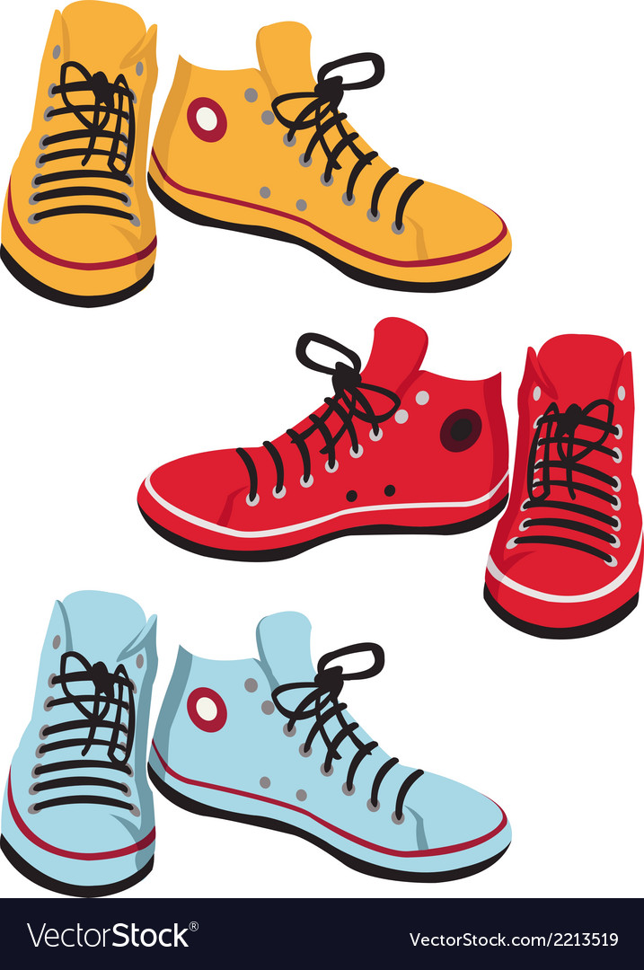 Colored gumshoes vector | Price: 1 Credit (USD $1)