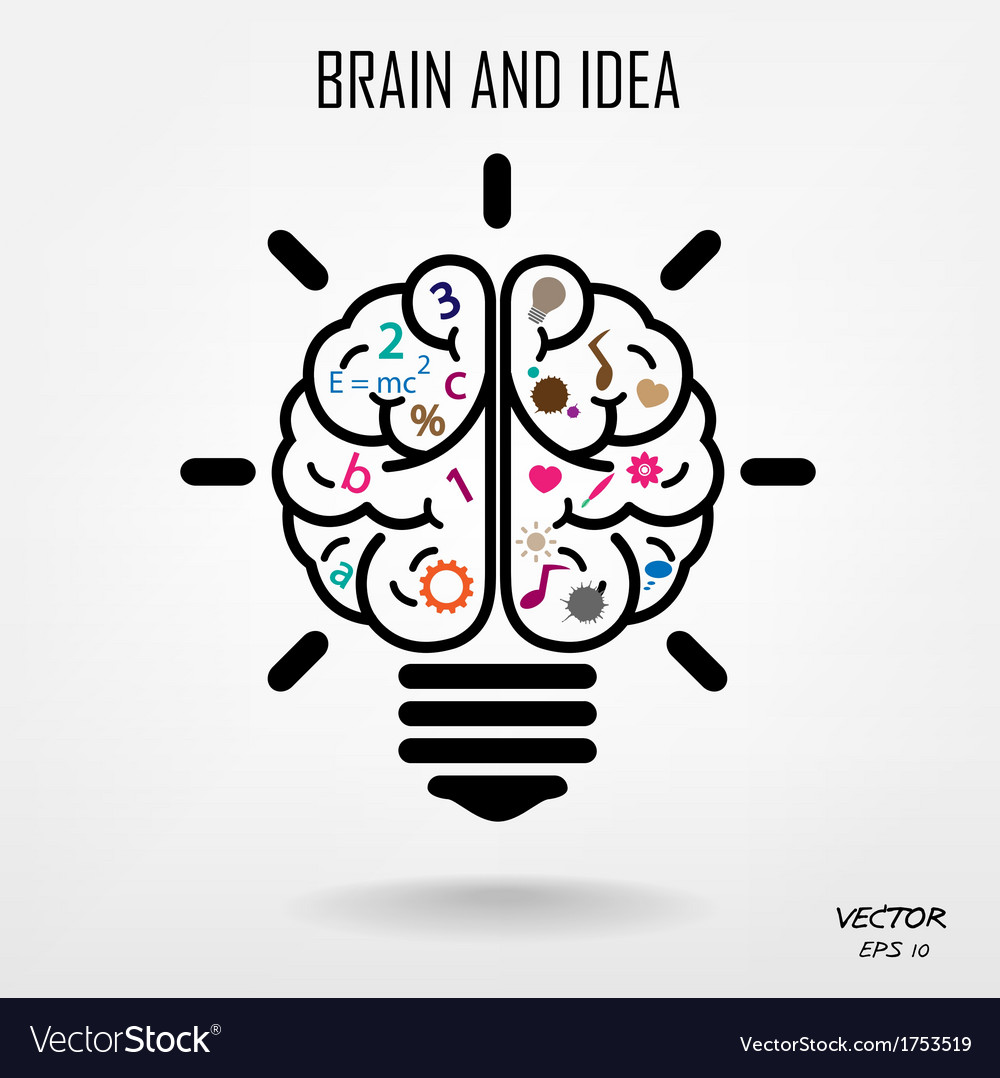 Creative brain idea concept background vector | Price: 1 Credit (USD $1)