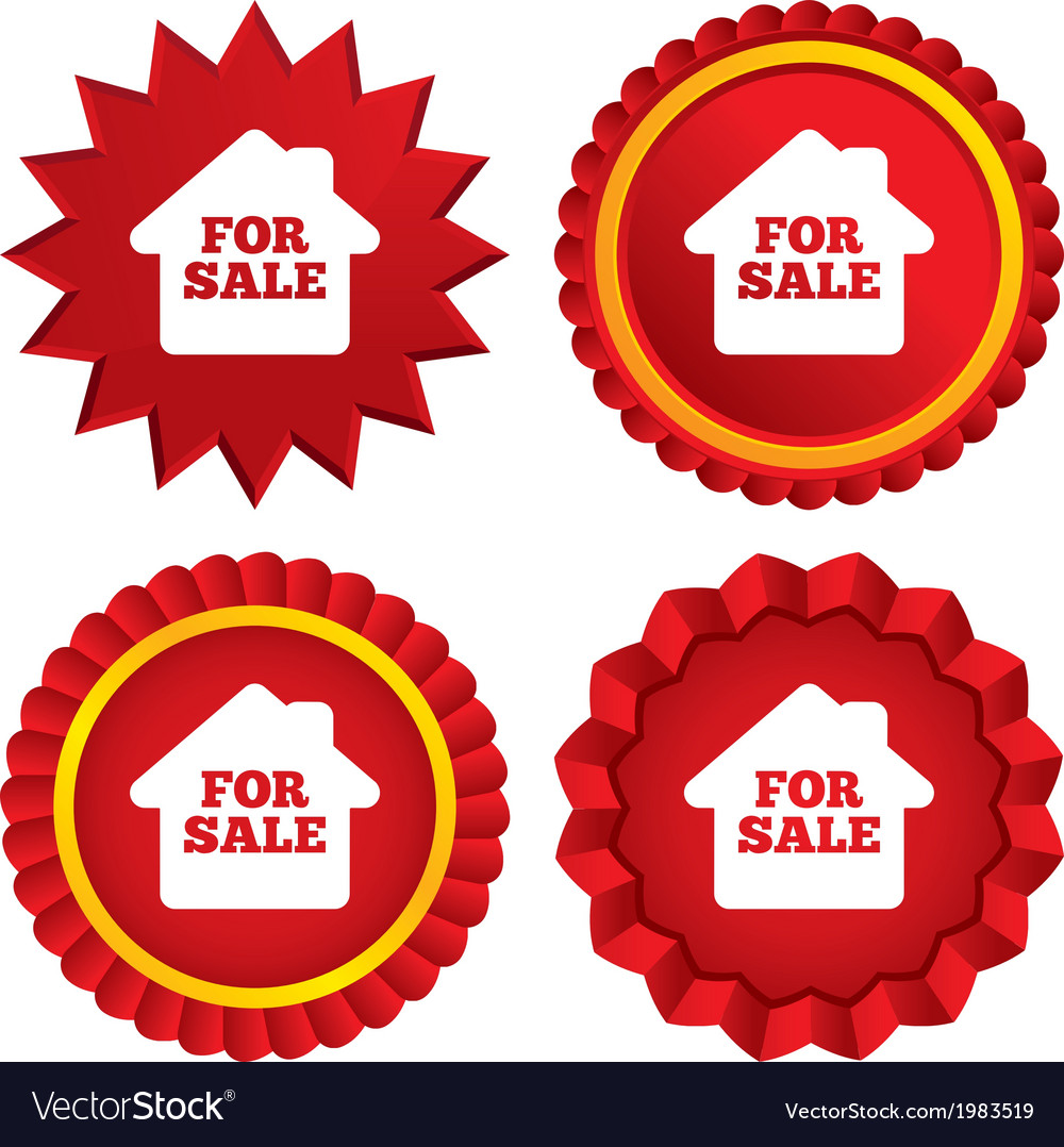 For sale sign icon real estate selling vector   Price: 1 Credit (USD $1)