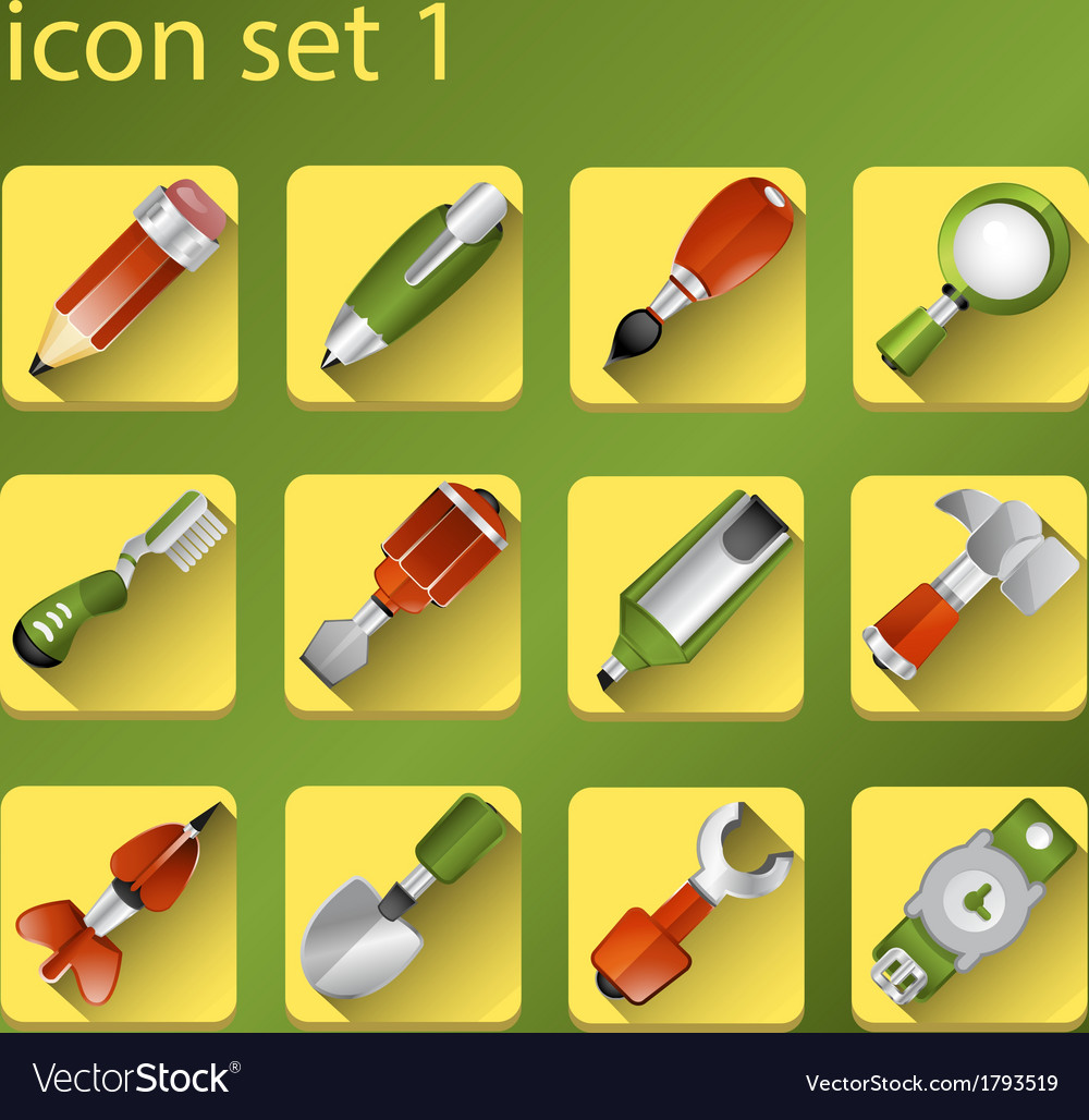 Icone set 1 vector | Price: 1 Credit (USD $1)