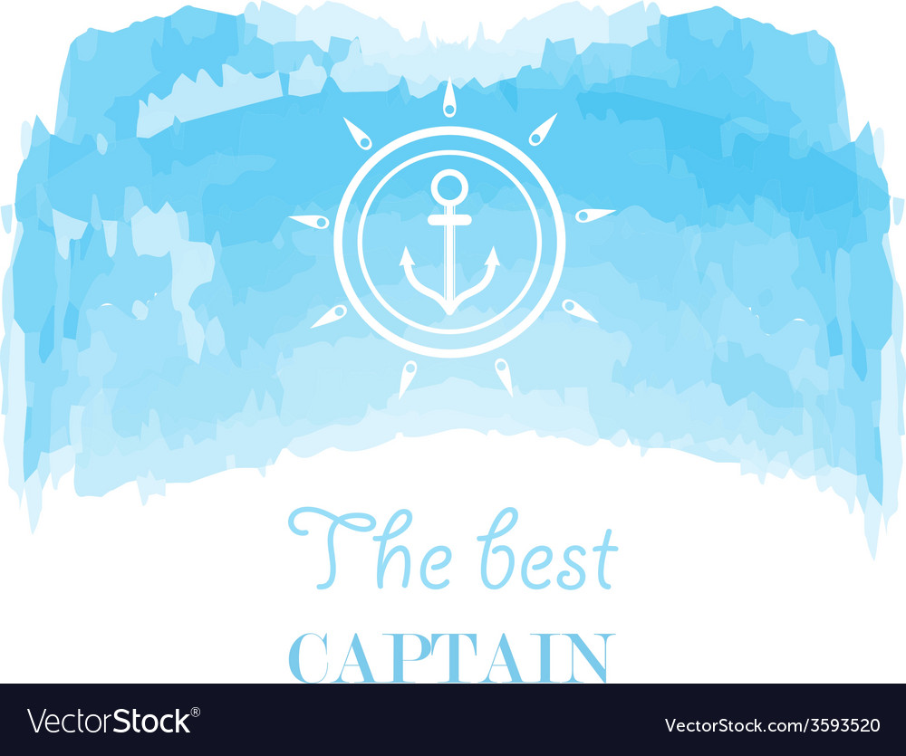 Blue white nautical emblem vector | Price: 1 Credit (USD $1)
