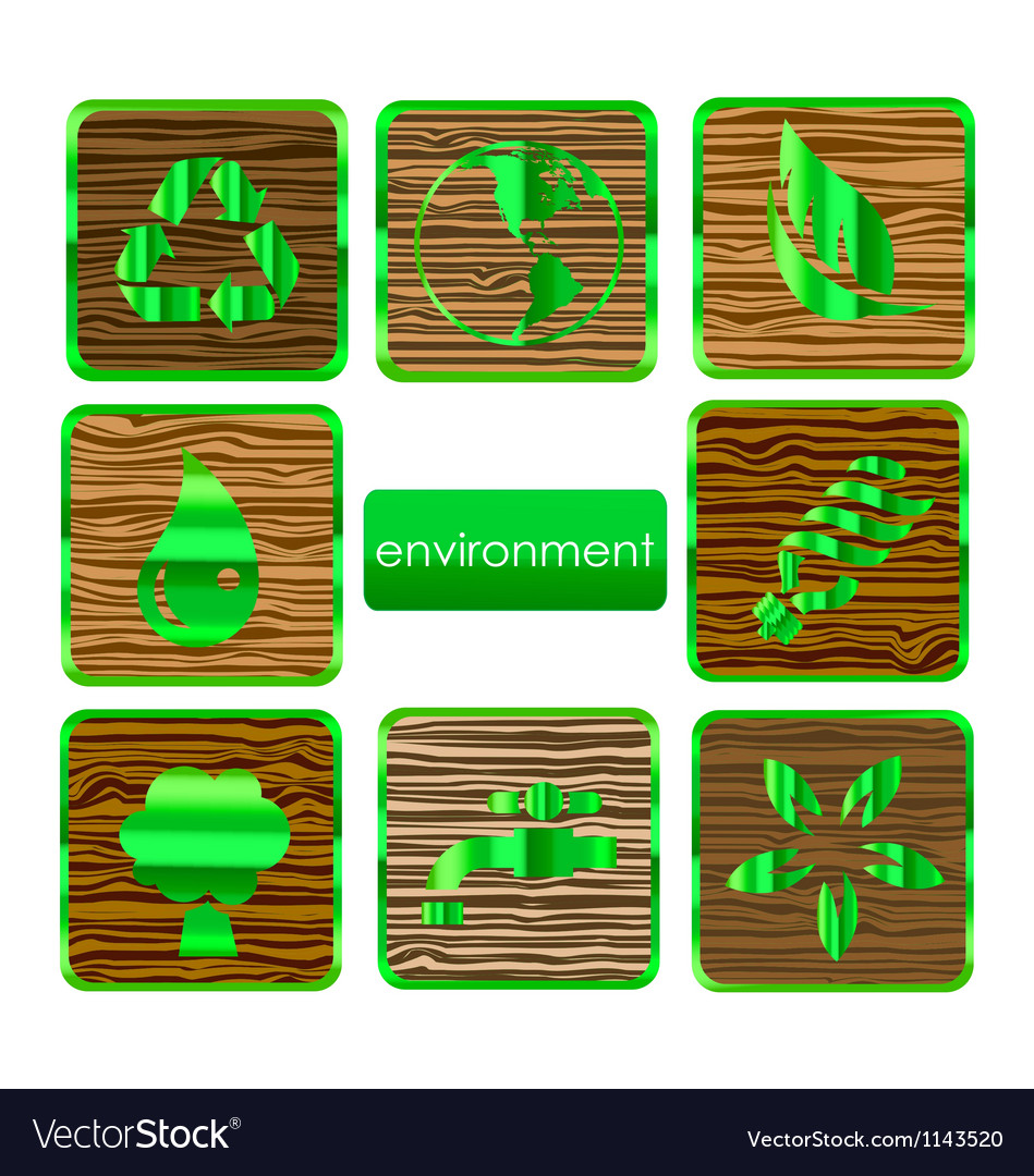 Environmental nature and eco sign set vector | Price: 1 Credit (USD $1)
