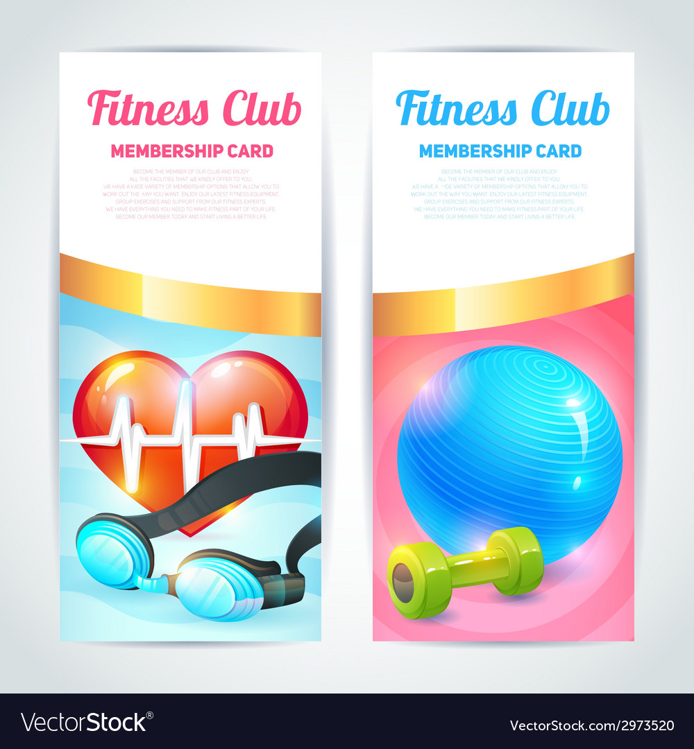 Fitness club card design vector | Price: 1 Credit (USD $1)