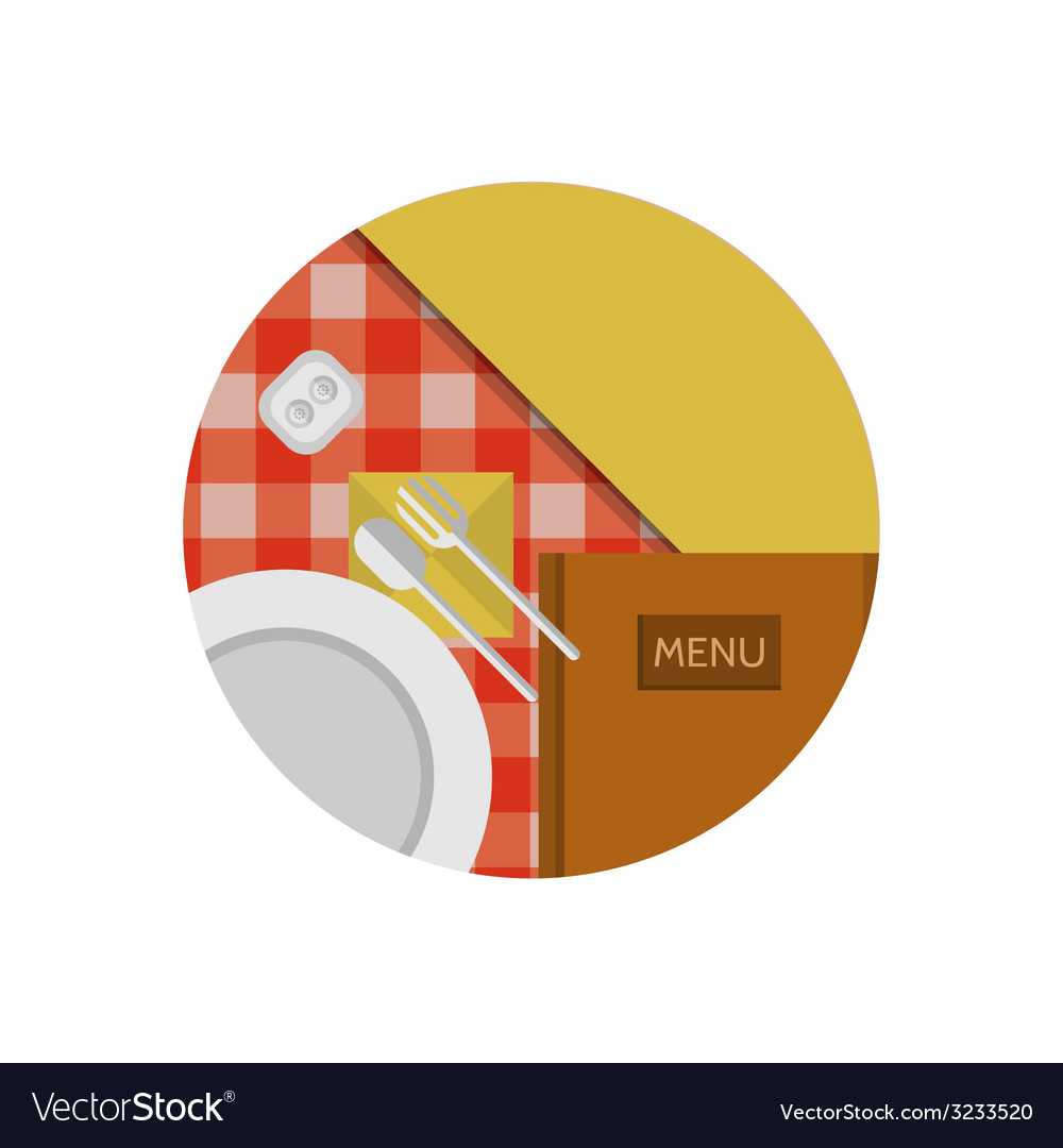 Flat icon for cafe or restaurant vector   Price: 1 Credit (USD $1)