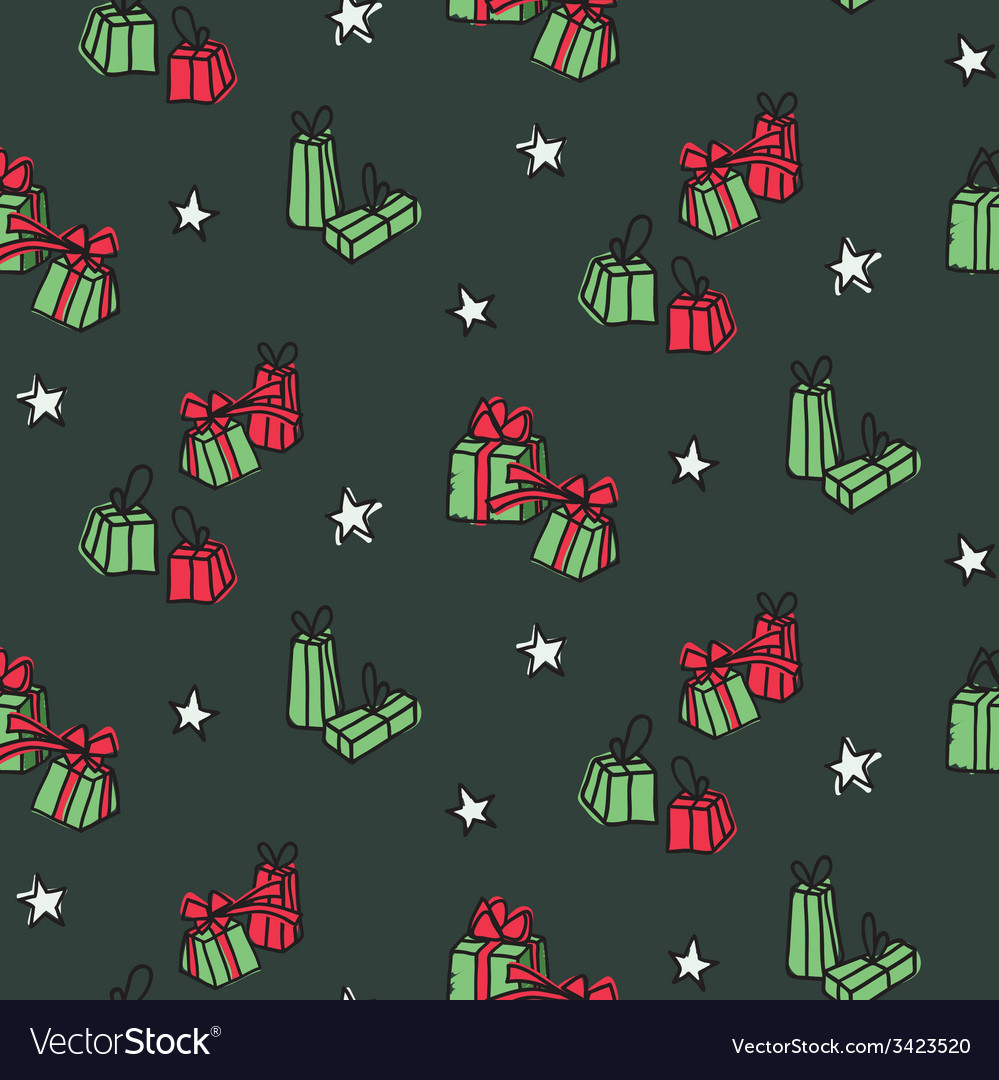 Hand drawn new year and christmas background vector   Price: 1 Credit (USD $1)