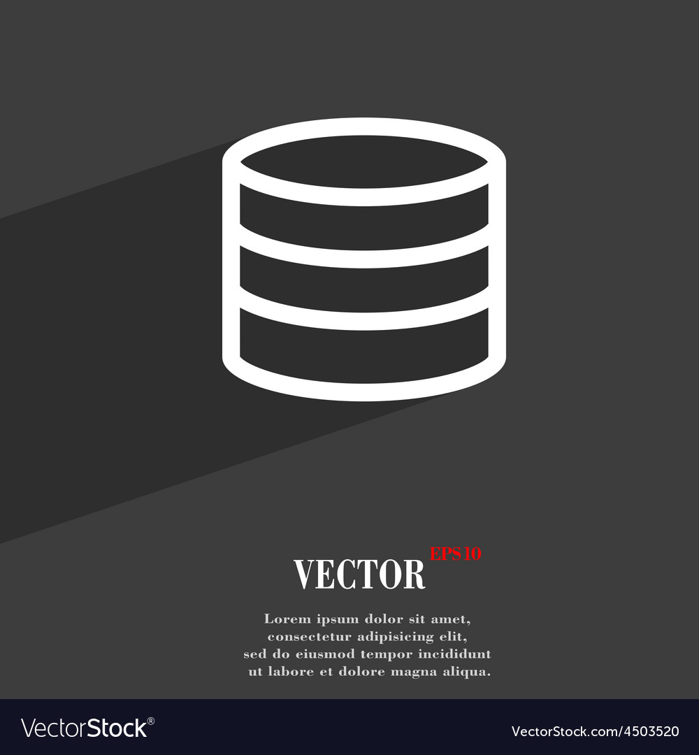 Hard disk and database icon symbol flat modern web vector | Price: 1 Credit (USD $1)