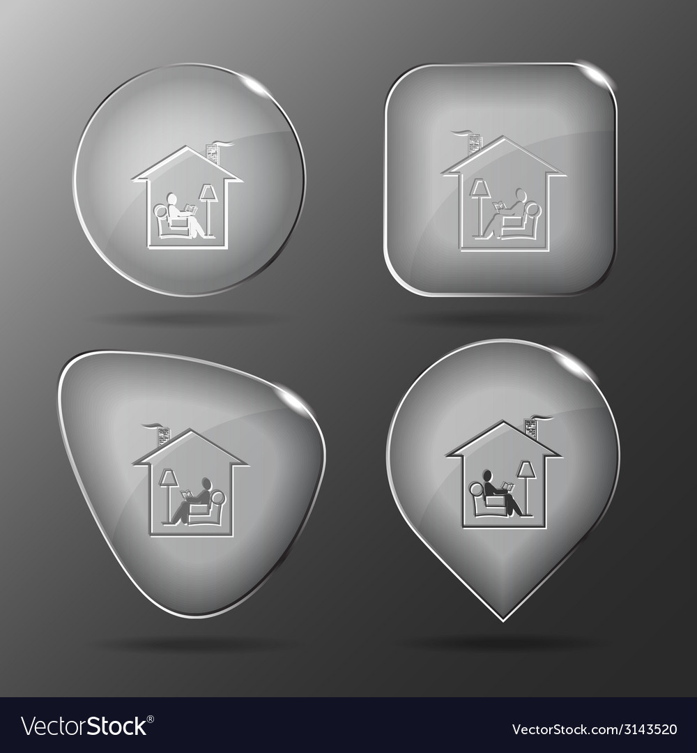 Home reading glass buttons vector | Price: 1 Credit (USD $1)