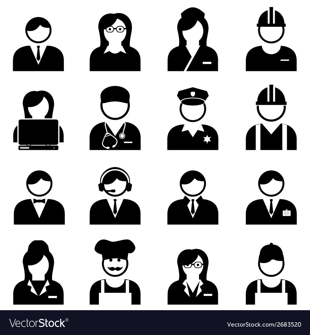 Professions and occupations icon vector | Price: 1 Credit (USD $1)