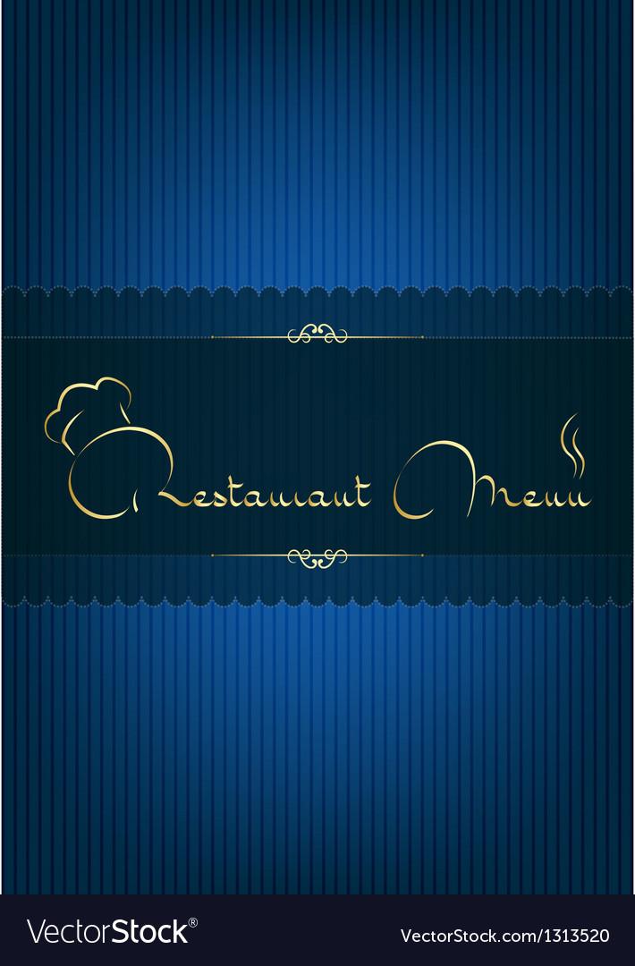 Retaurant menu blue vector