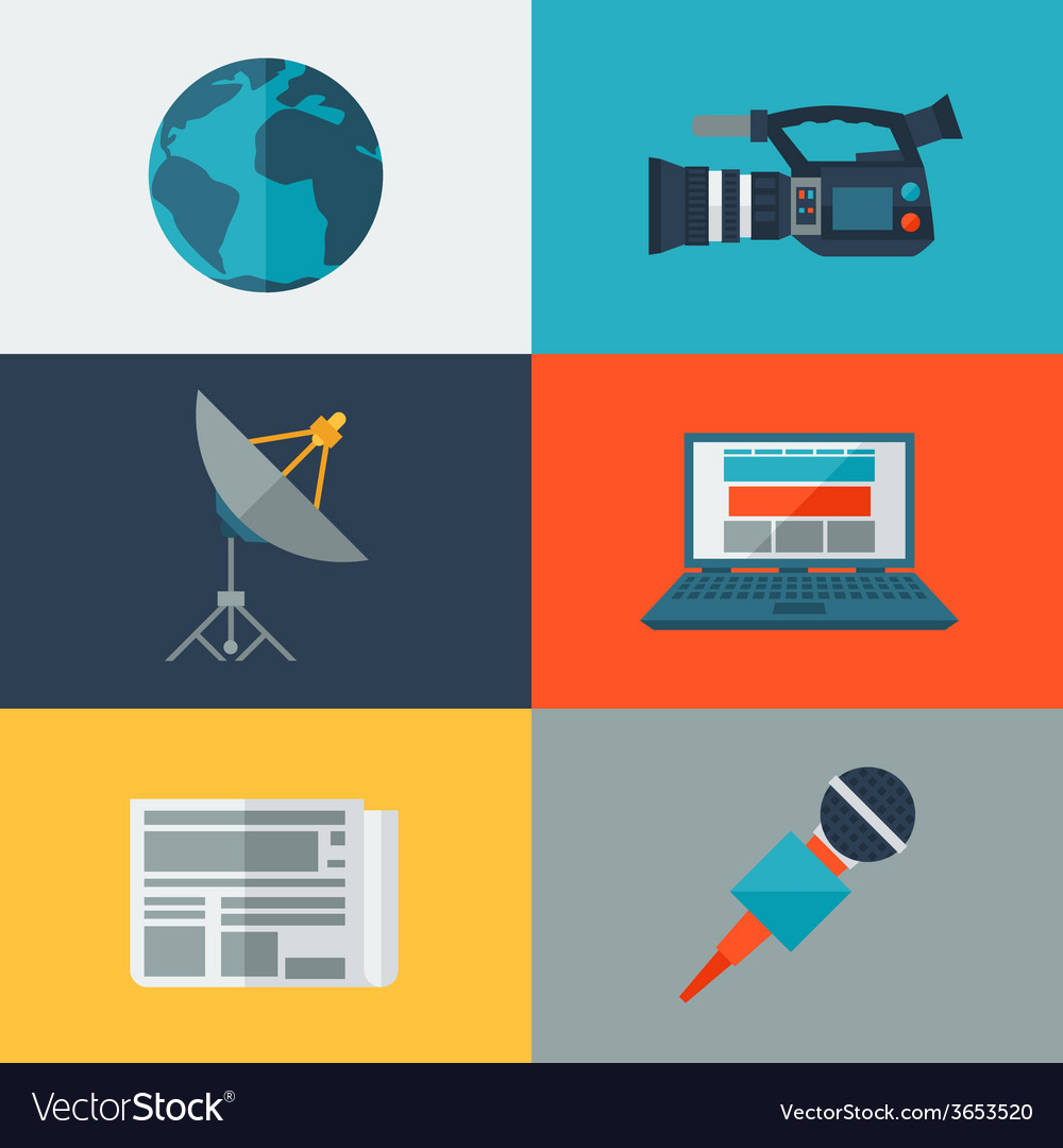 Set of journalism icons vector | Price: 1 Credit (USD $1)