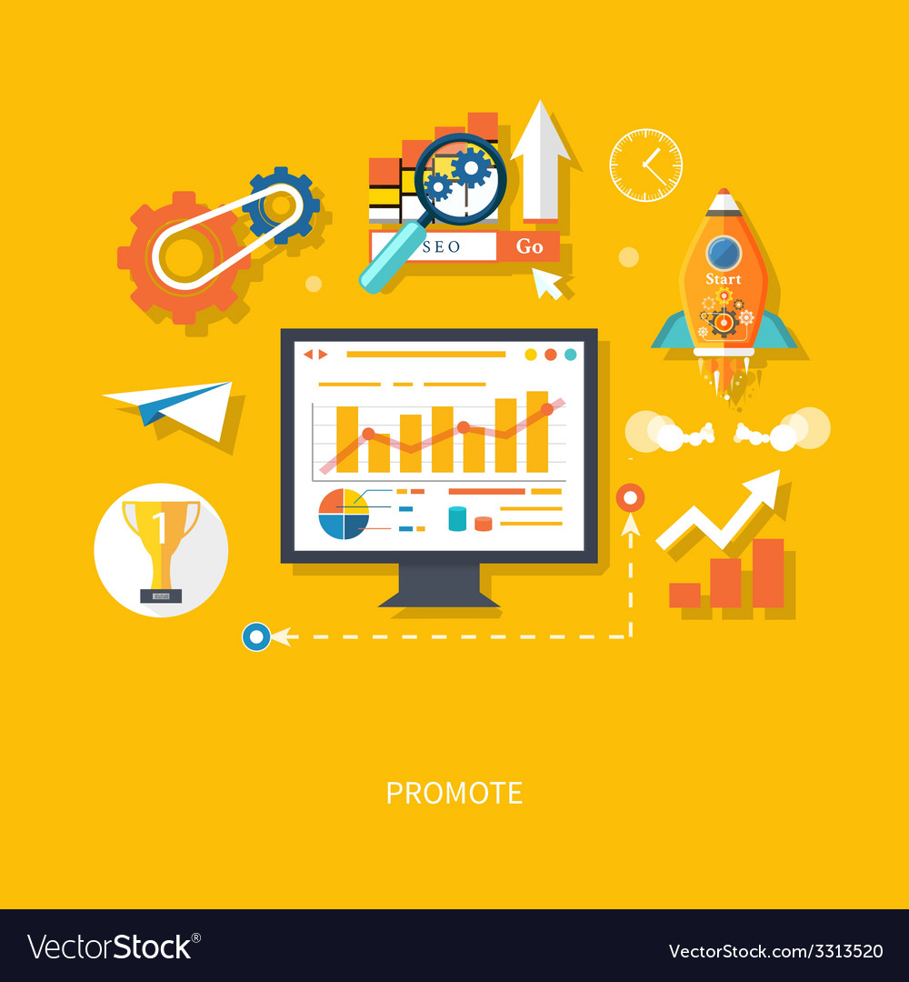Start up business concept vector | Price: 1 Credit (USD $1)