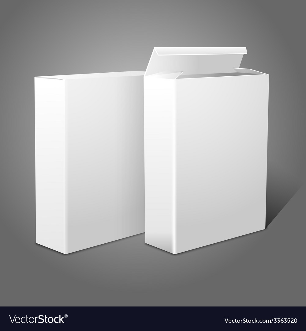 Two realistic white blank paper packages for vector | Price: 3 Credit (USD $3)