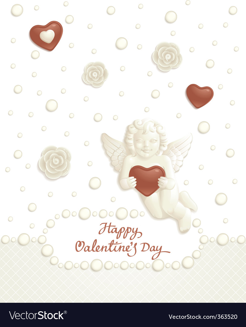 Valentine candy background vector | Price: 1 Credit (USD $1)