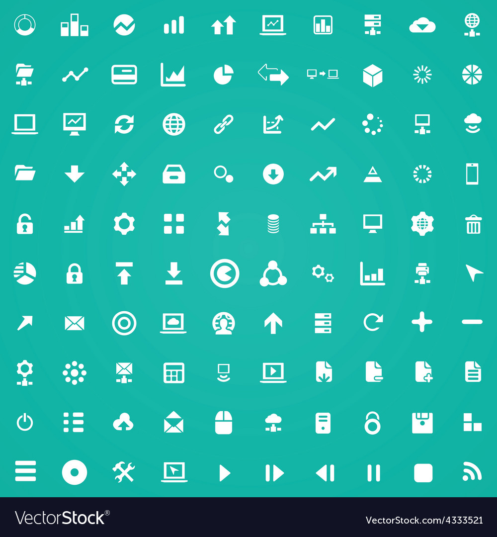 100 big data database icons vector | Price: 1 Credit (USD $1)