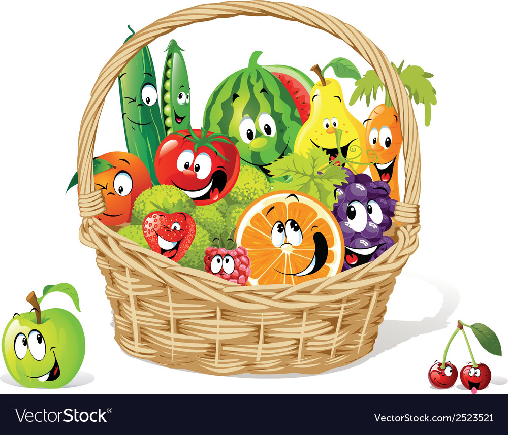 Bio basket vector | Price: 1 Credit (USD $1)