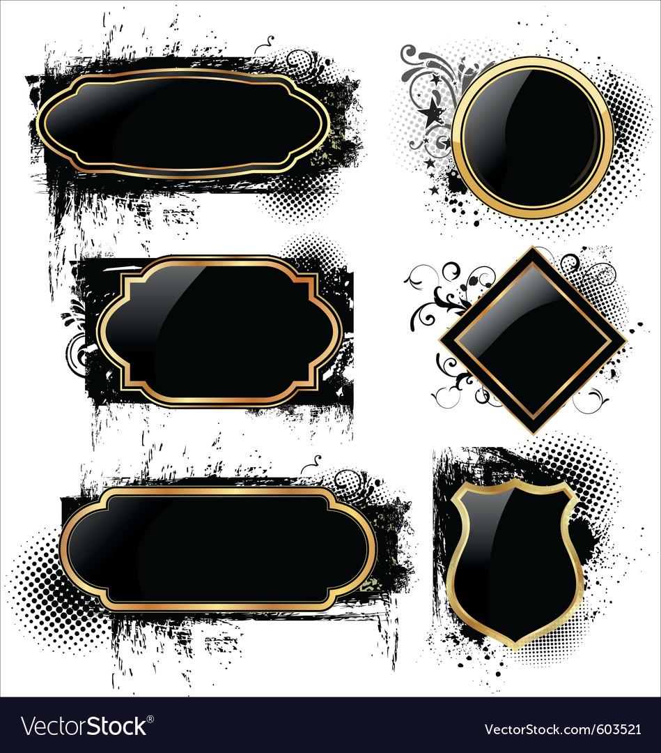 Elegant labels on grunge background vector | Price: 1 Credit (USD $1)