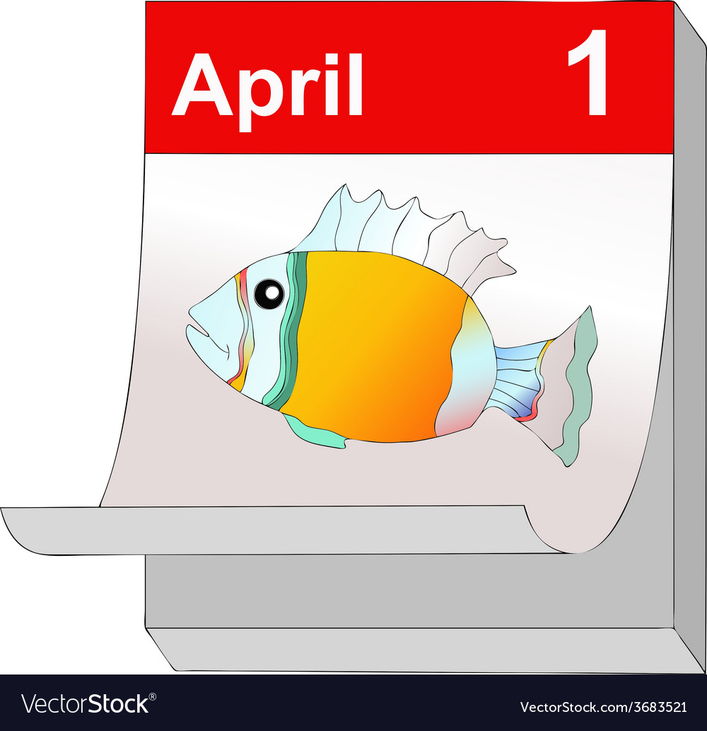 First of april vector | Price: 1 Credit (USD $1)