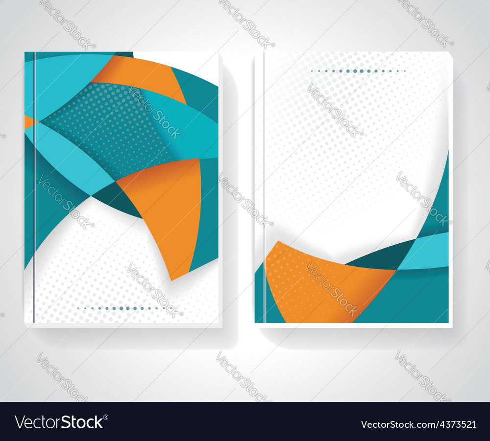 Geometric design business brochures magazines vector | Price: 1 Credit (USD $1)