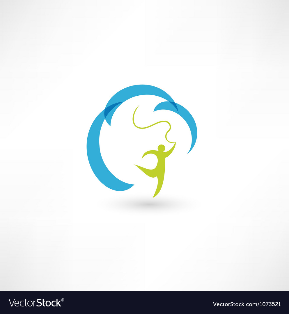 Gymnast with ribbon vector | Price: 1 Credit (USD $1)