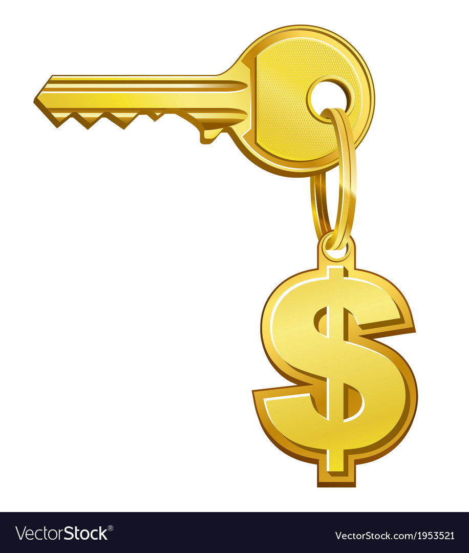 Key to money vector | Price: 1 Credit (USD $1)