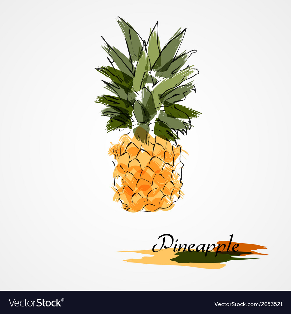 Pineapple fruit vector | Price: 1 Credit (USD $1)