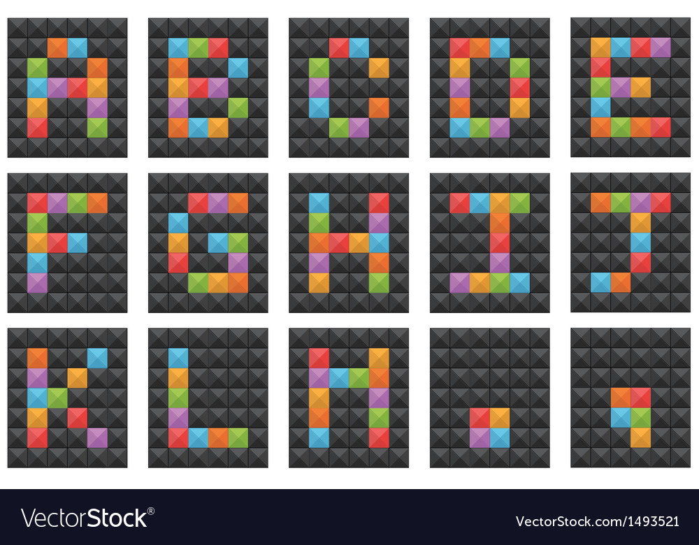 Square alphabet set 1 vector | Price: 1 Credit (USD $1)