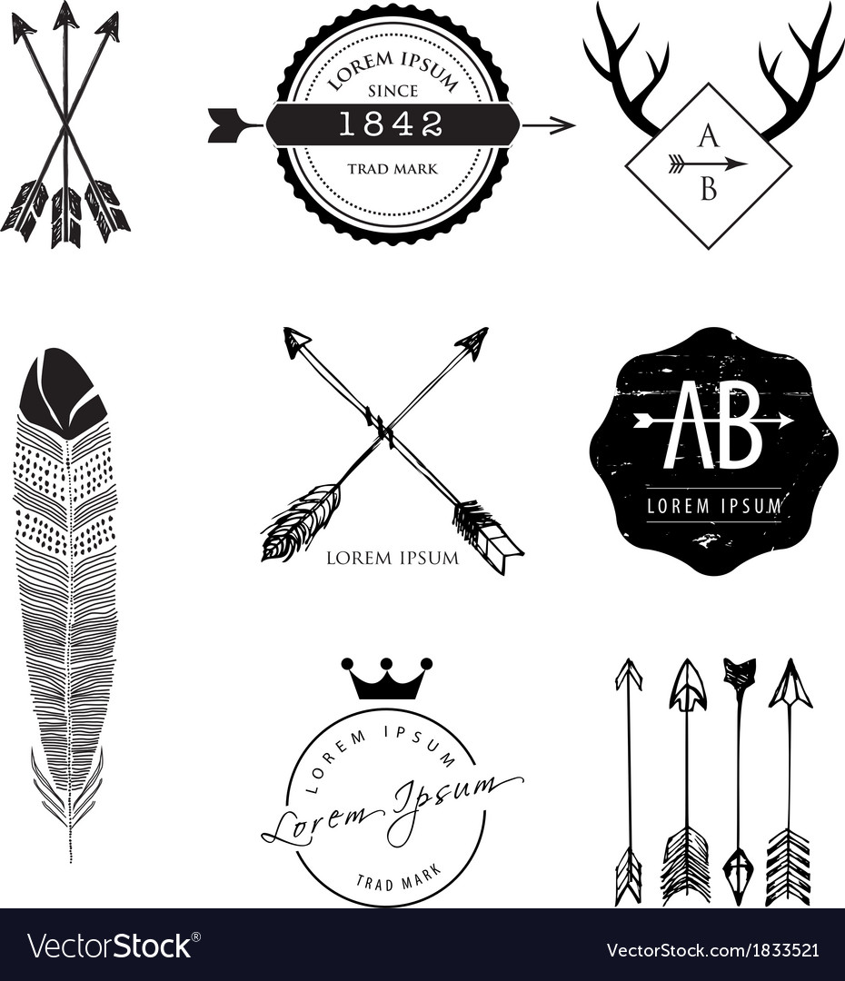 Vintage style design elements vector | Price: 1 Credit (USD $1)