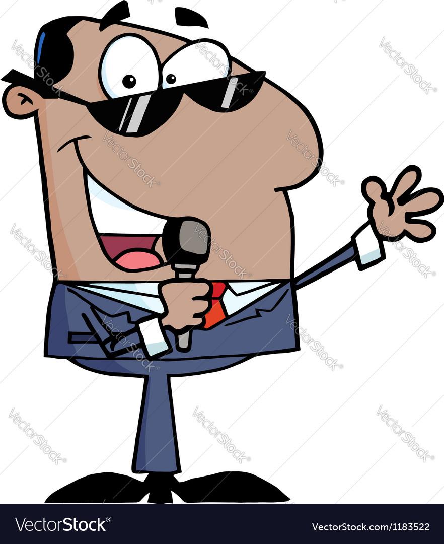 African american businessman vector | Price: 3 Credit (USD $3)