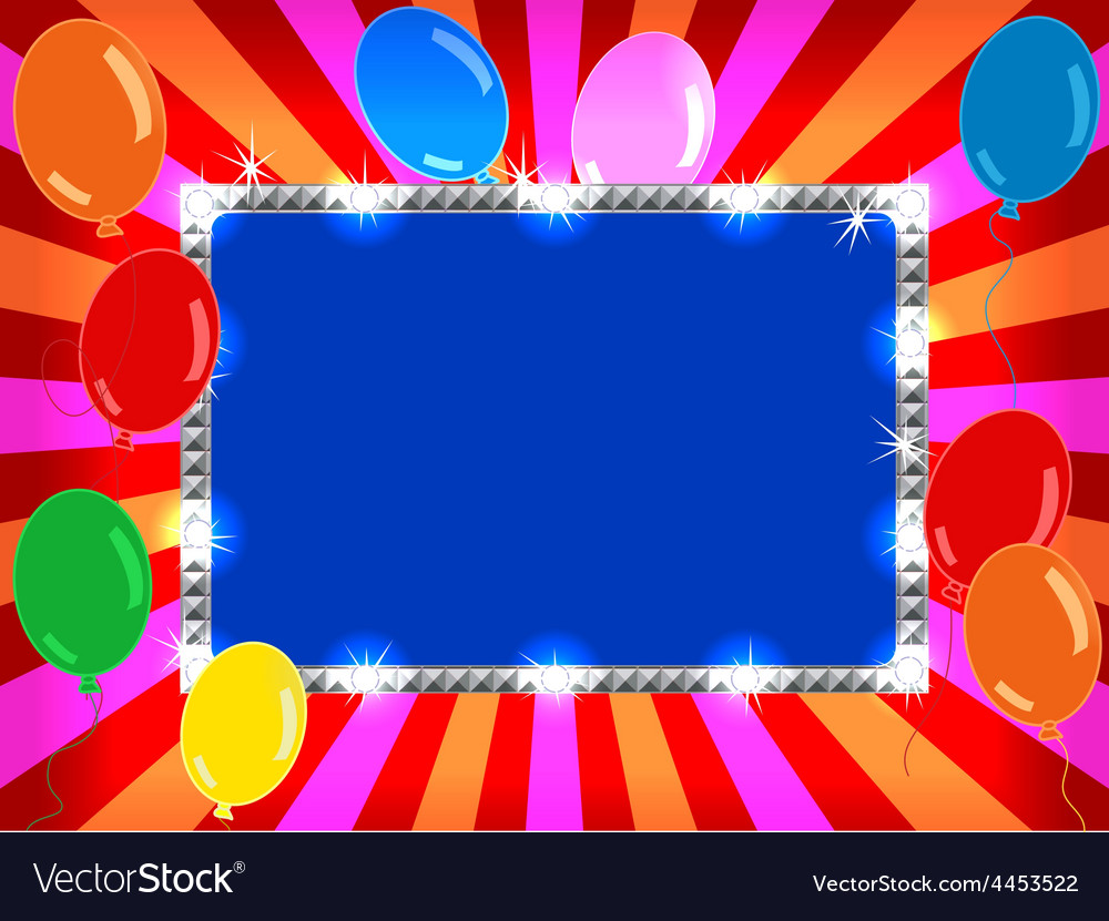 Billboard with balloons vector | Price: 1 Credit (USD $1)