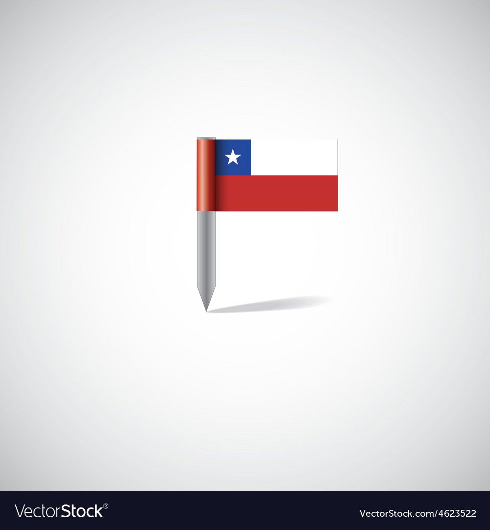 Chile flag pin vector | Price: 1 Credit (USD $1)