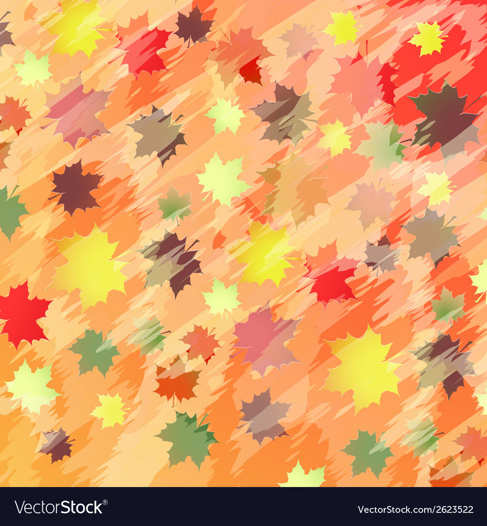 Colorful background with maple leaves vector | Price: 1 Credit (USD $1)