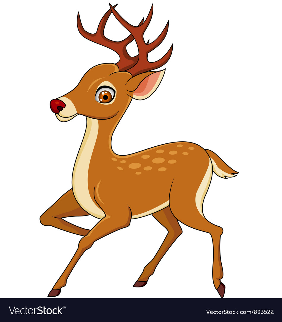 Cute deer cartoon vector | Price: 3 Credit (USD $3)