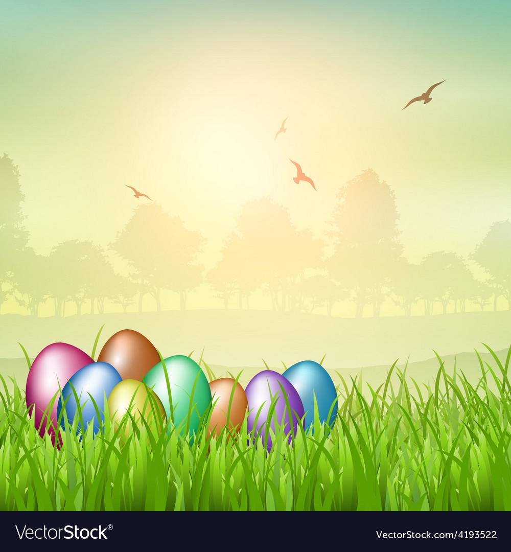 Easter egg backgroubnd vector