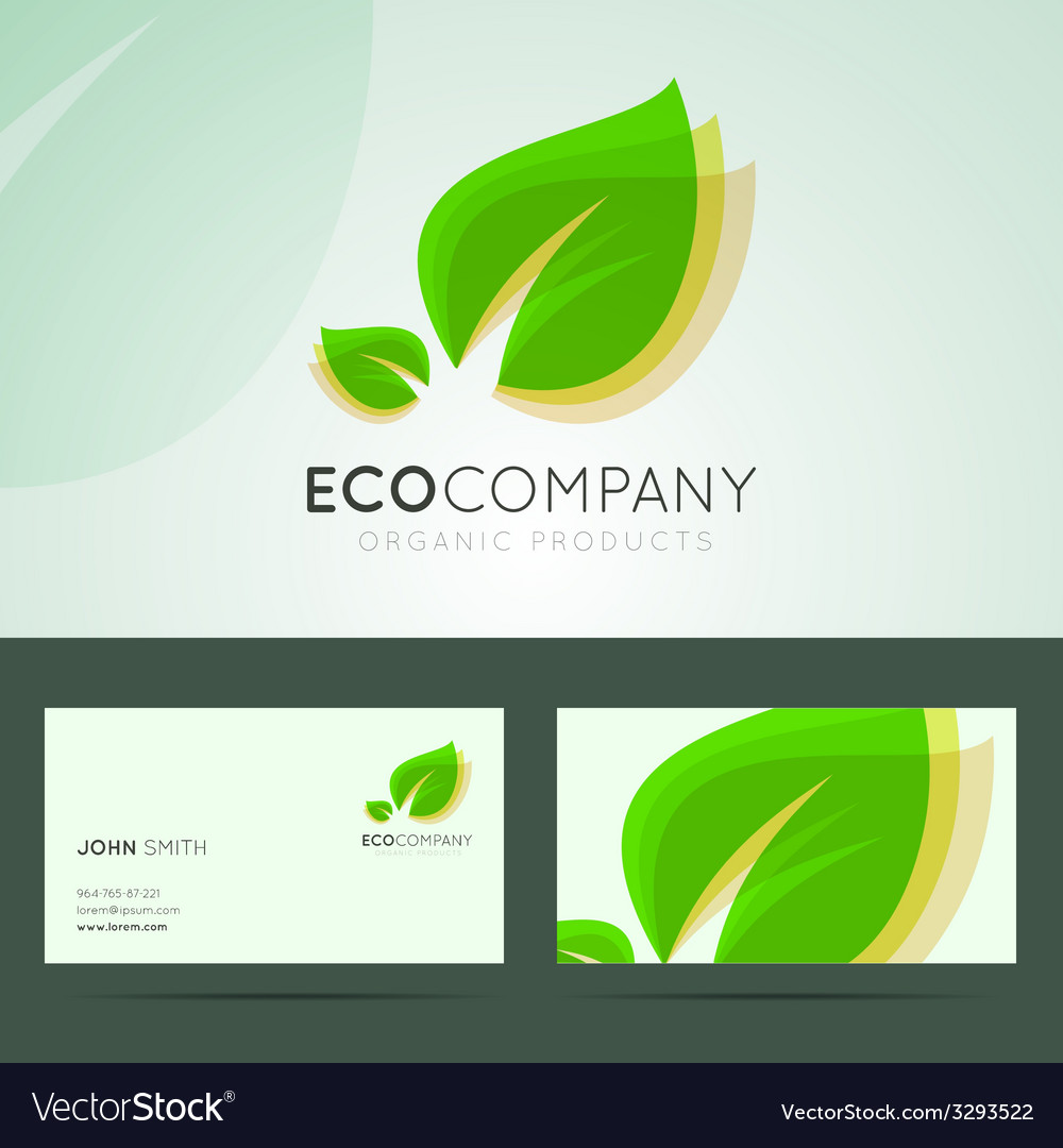 Ecological company logo design vector | Price: 1 Credit (USD $1)