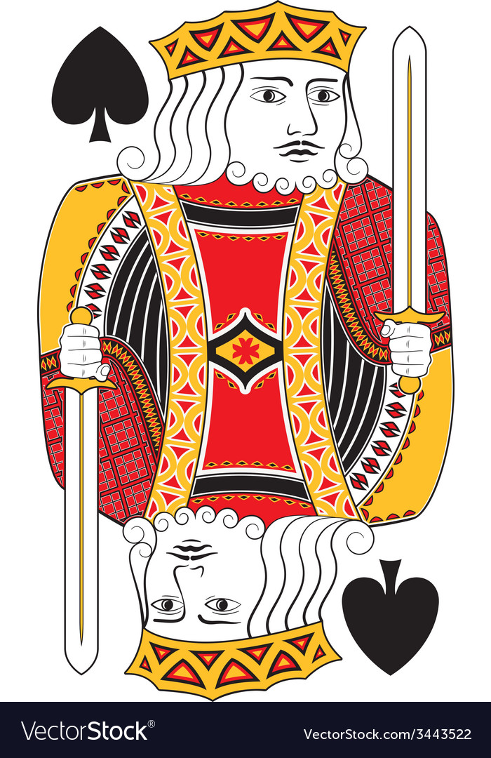 King of spades no card vector | Price: 1 Credit (USD $1)