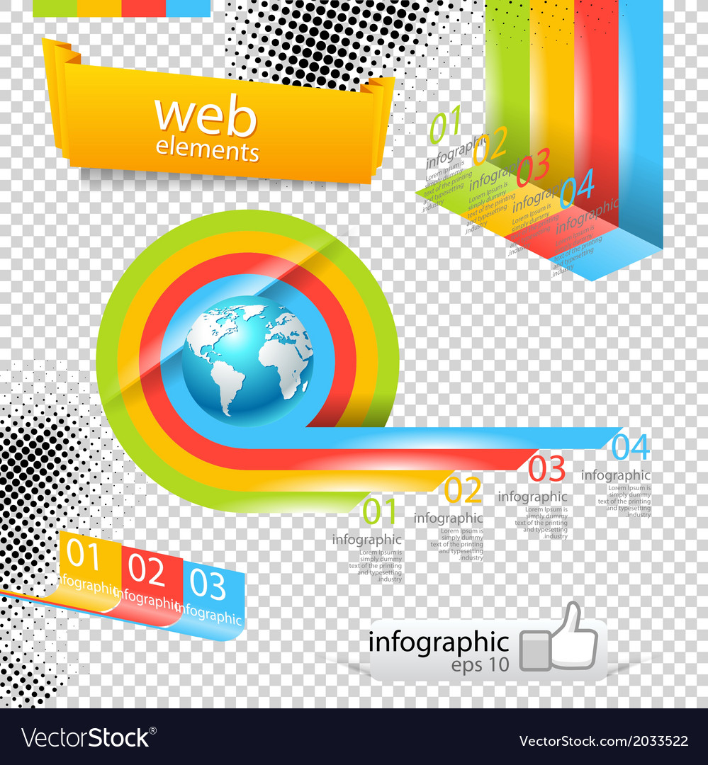 Modern design template with world map vector | Price: 1 Credit (USD $1)