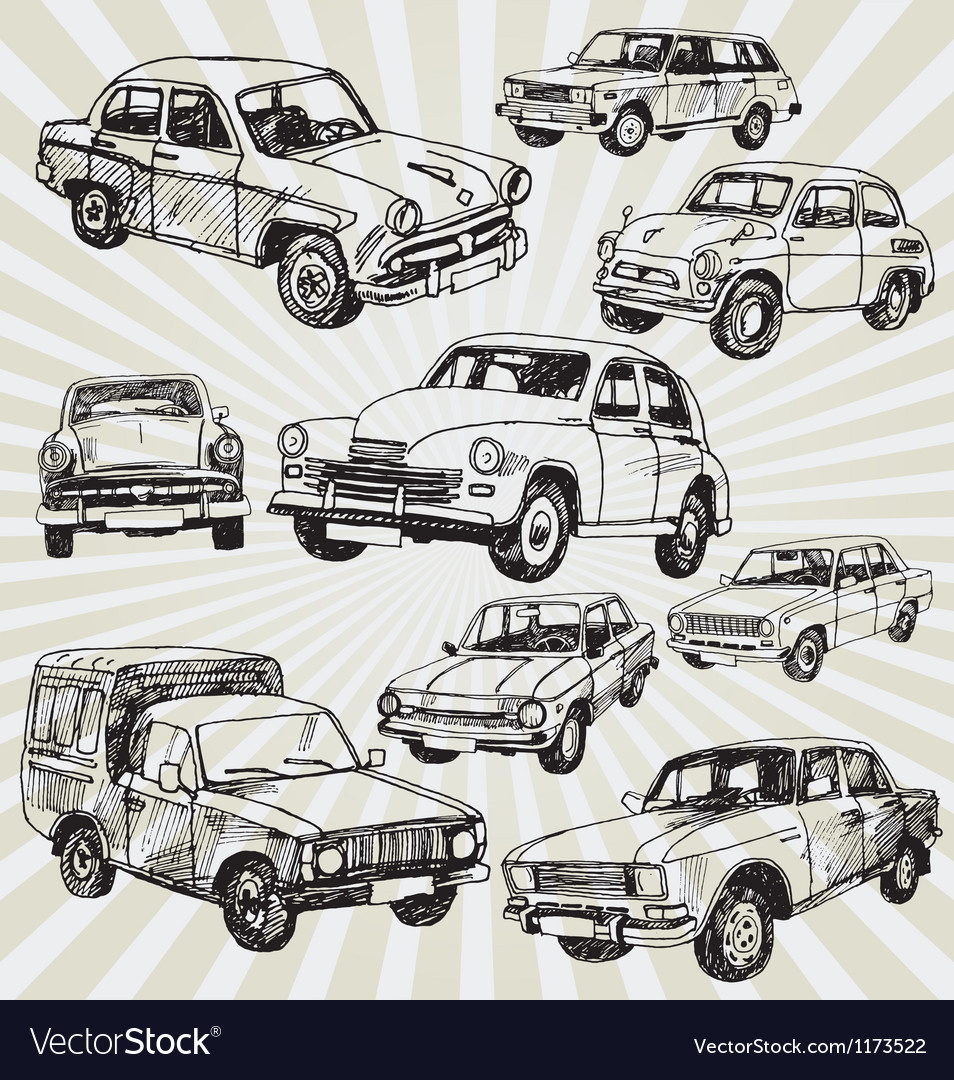 Oldcars vector | Price: 1 Credit (USD $1)