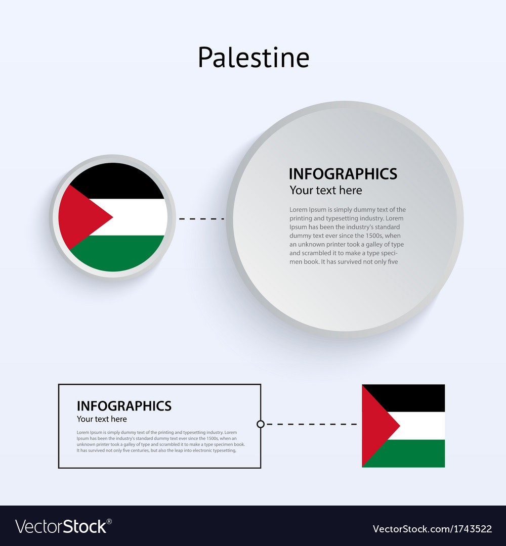 Palestine country set of banners vector | Price: 1 Credit (USD $1)